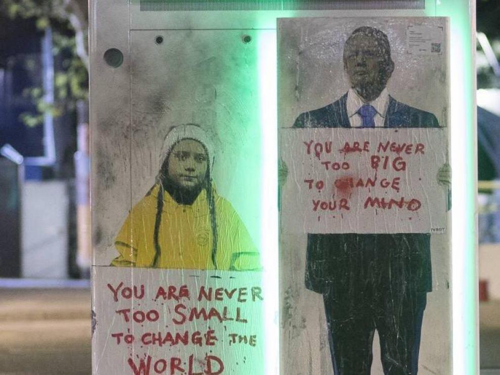 El grafiti, en el que también aparecía Donald Trump, ha sido borrado