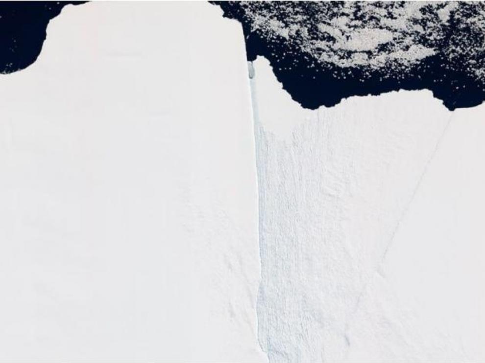 Una imagen del iceberg tomada por la NASA.