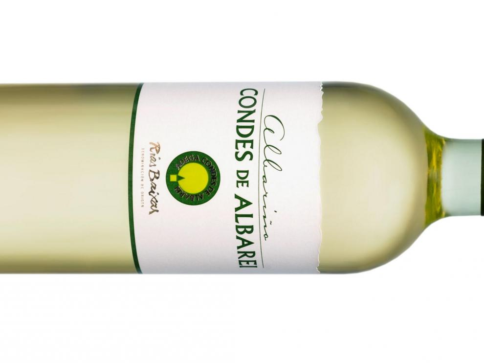 Botella de Condes de Albarei 2018.