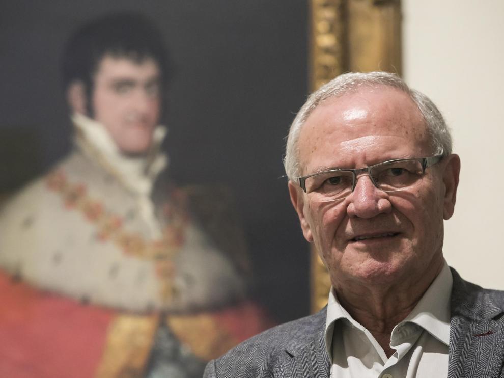 CULTURA Y OCIO..Museo Camon Aznar. Entrevista al historiador Emilio Laparra, que viene a dar una conferencia sobre Fernando VII / 02-10-2019 / FOTO: GUILLERMO MESTRE [[[FOTOGRAFOS]]]