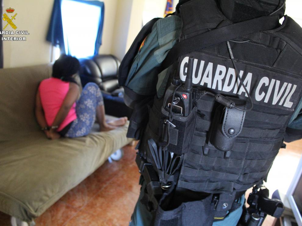 Momento de la detención en Pedrola