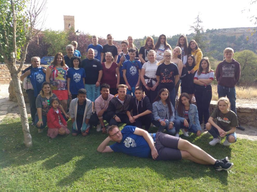 Los estudiantes alemanes llegaron a Anento el pasado sábado.