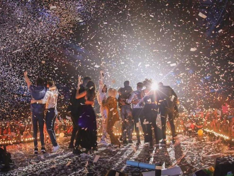 La generación OT 2018 en el concierto que hicieron en Madrid el pasado mes de febrero.