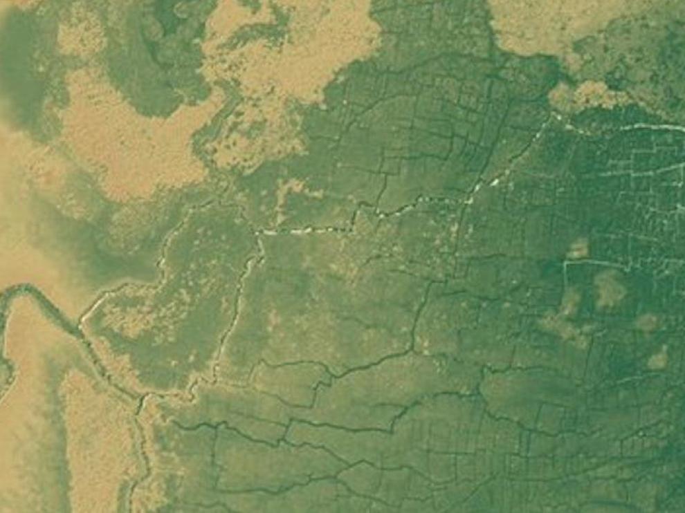 Un mapa de la red de canales conocida como 'Ave del paraíso'.