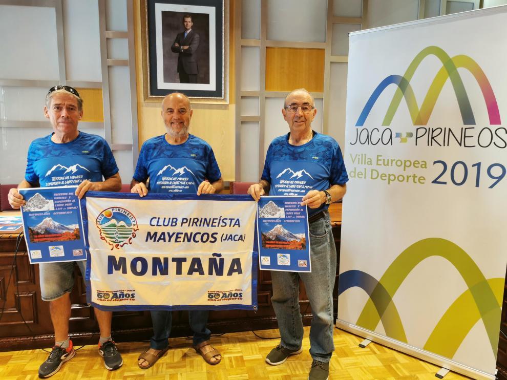 En la foto Luis Rodríguez, Chema Tapia y Fernando Val