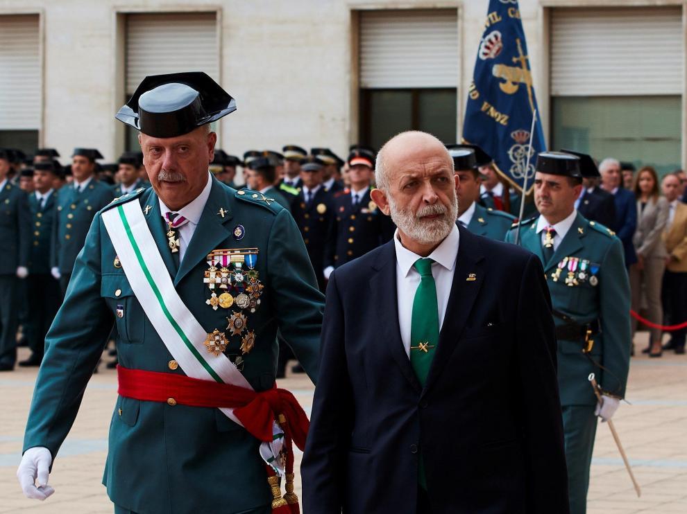 Pedro Garrido durante la celebración de la patrona de la Guardia Civil en Cataluña.