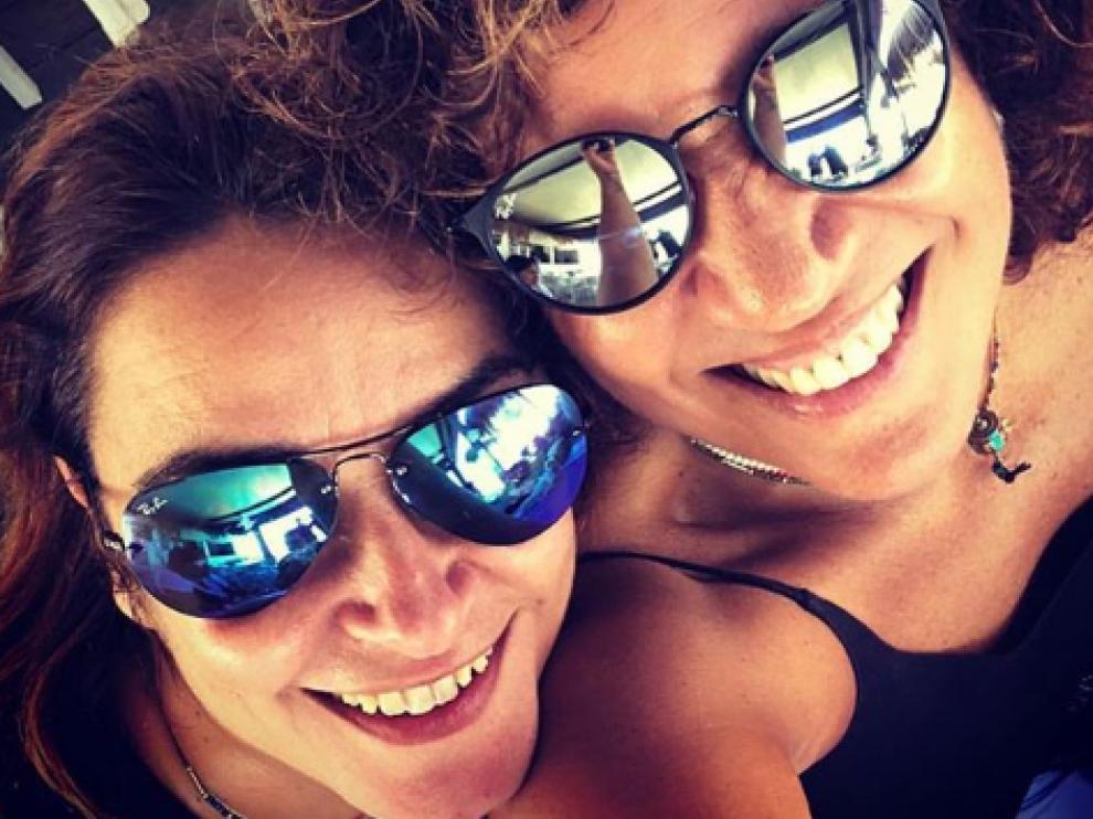 Toñi Moreno y Rosana, en una imagen de Instagram.