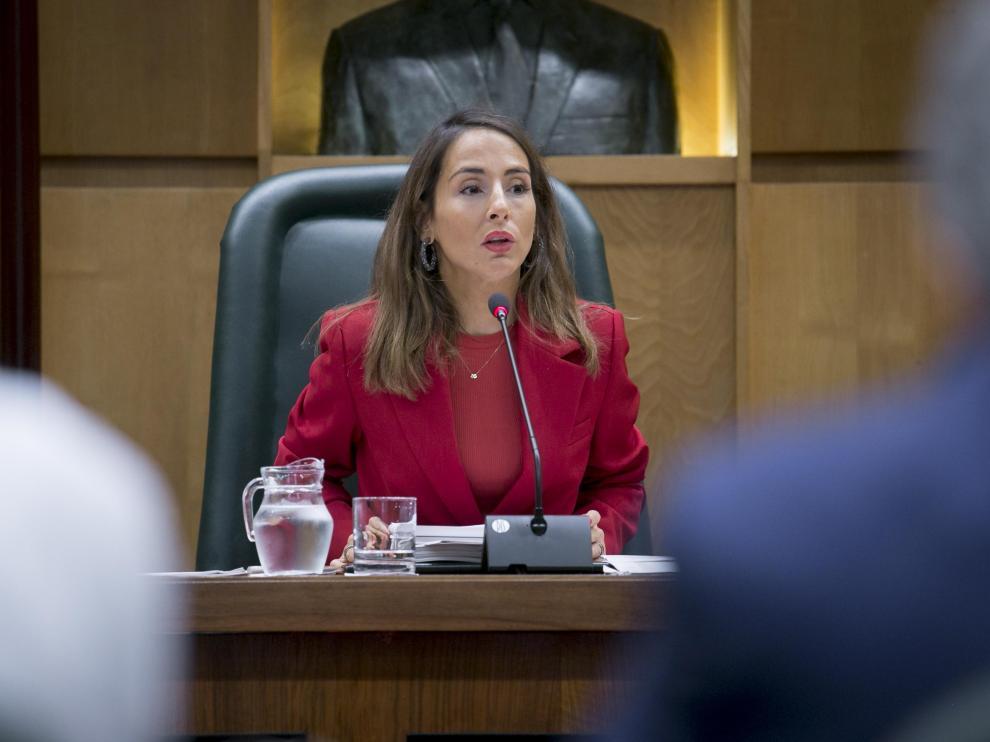 María Navarro, en la comisión de Hacienda del pasado mes de septiembre.