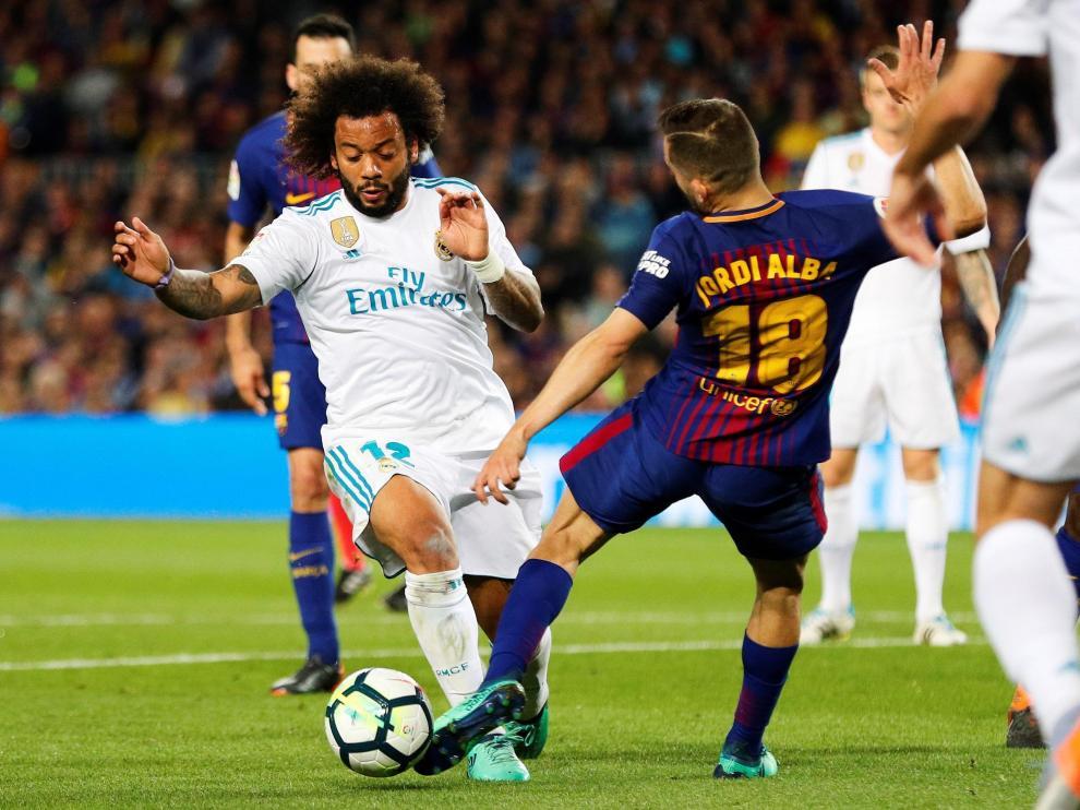 Imagen de archivo de un clásico entre el FC Barcelona y el Real Madrid.