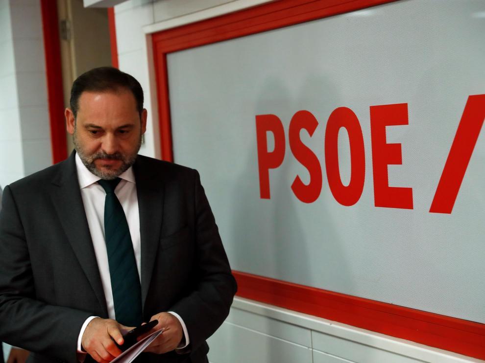 José Luis Ábalos, en la rueda de prensa de este miércoles.