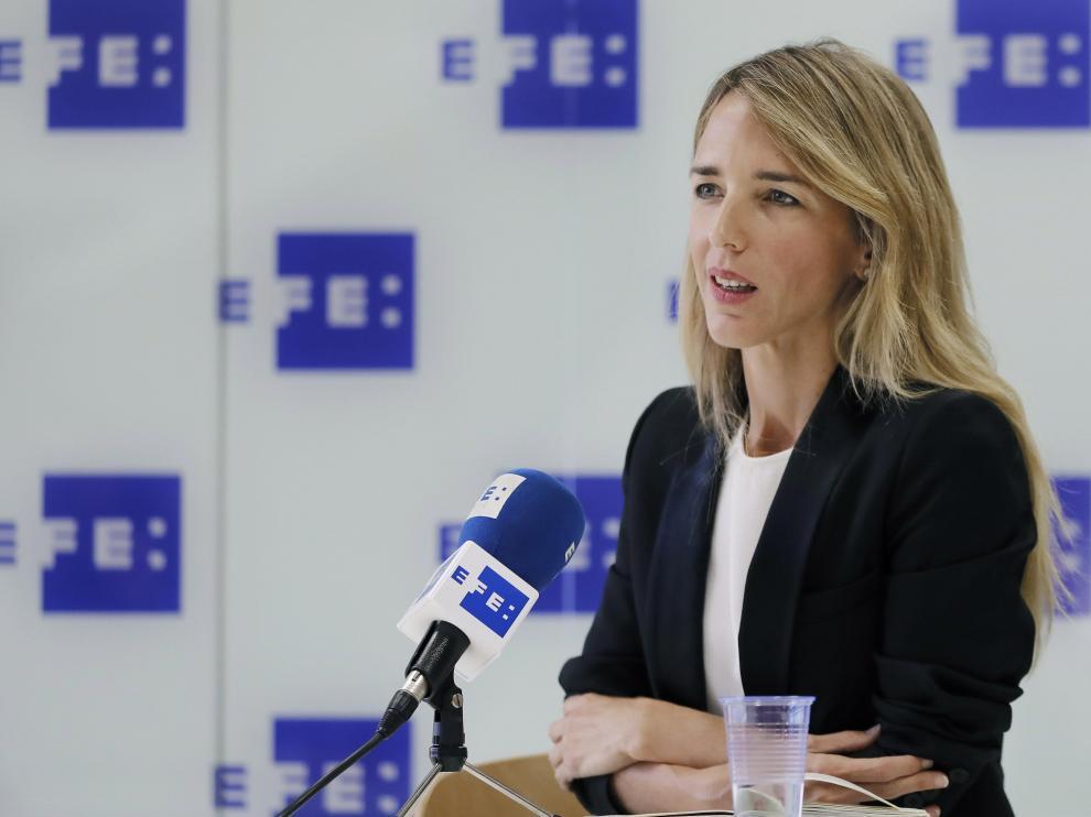 Cayetana Álvarez de Toledo, este jueves en Barcelona
