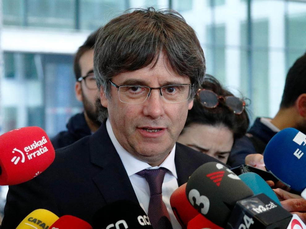 Puigdemont tras declarar en Bruselas