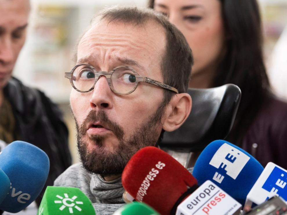 Pablo Echenique, este lunes en Sevilla.