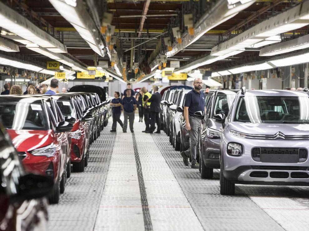 Imagen de la nave de Acabado Final de la planta de Opel PSA en Figueruelas
