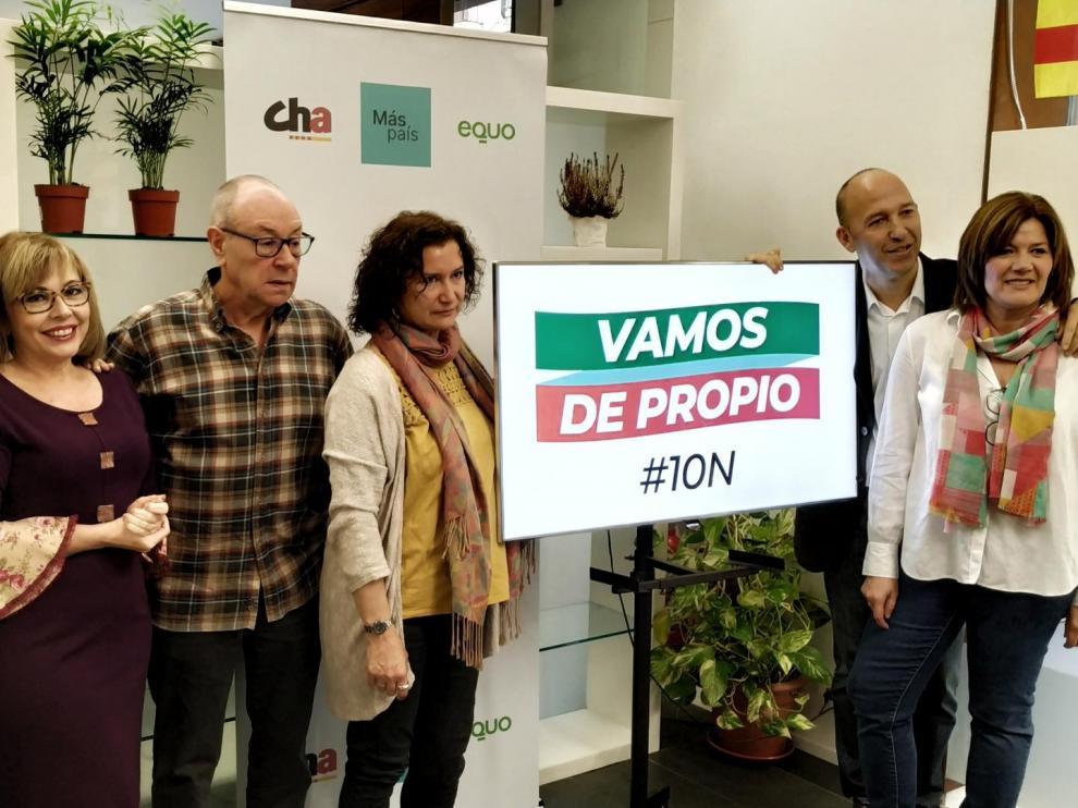 """Presentación de la campaña y el lema """"Vamos de propio"""" de Más País-CHA-Equo."""