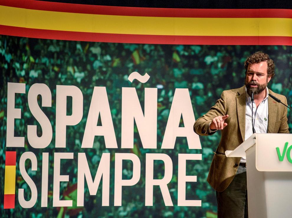 Iván Espinosa de los Monteros, en un acto de Vox el pasado domingo en Bilbao.
