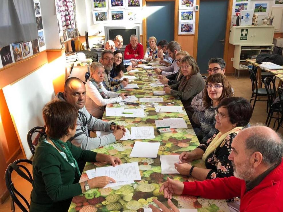 Down Huesca se reunió este sábado con los alcaldes de Fonz, Binéfar y Alcañiz y asociaciones de discapacidad intelectual.