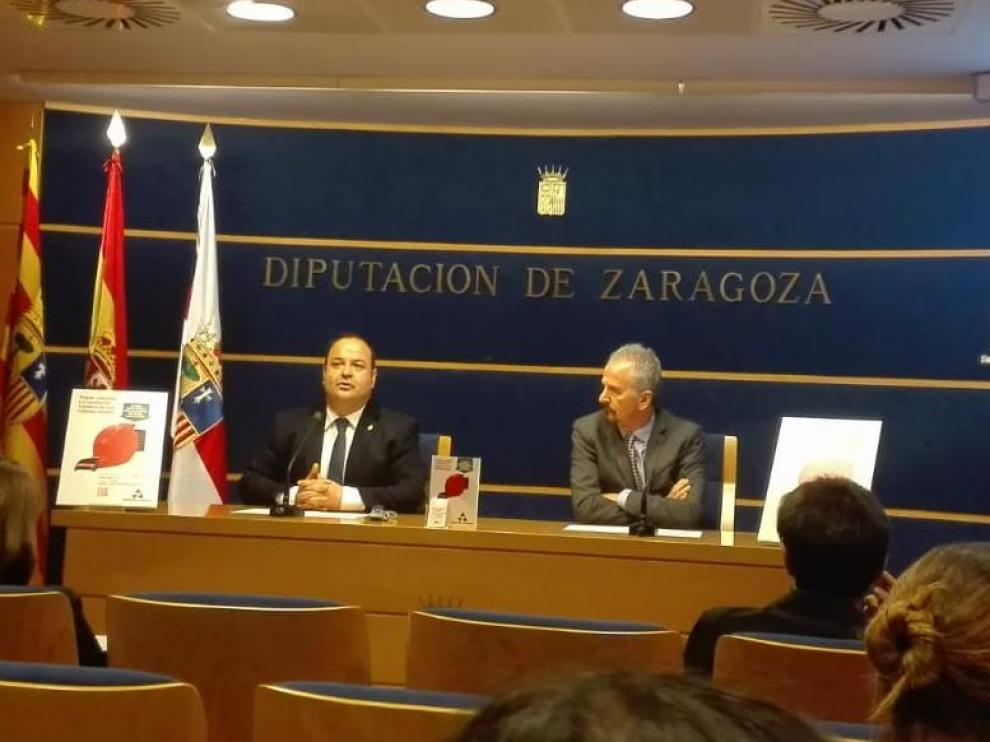 Presentación de la campaña este lunes en la sede de la DPZ, en Zaragoza.