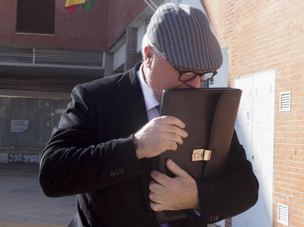 Villarejo, tras prestar declaración en el juzgado de Estepona por un caso de corrupción, en 2016.