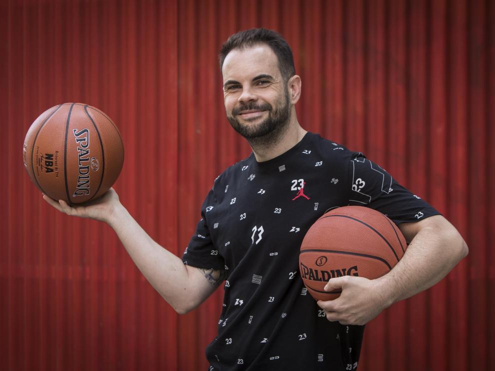 Alberto Béjar, organizador del primer Basket contra el cáncer.