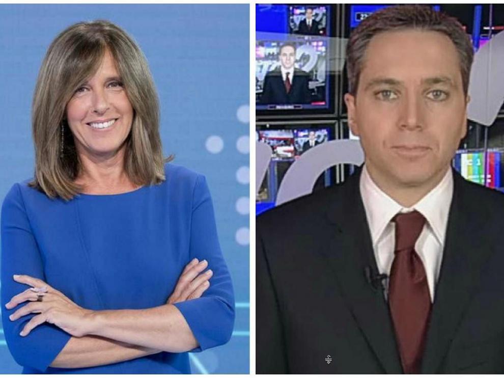 Ana Blanco y Vicente Vallés, presentadores del debate a cinco.