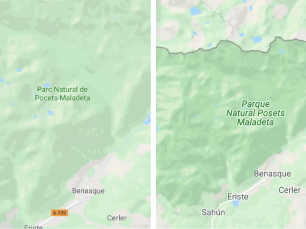 Imagen de Google Maps donde se aprecia el error y la corrección