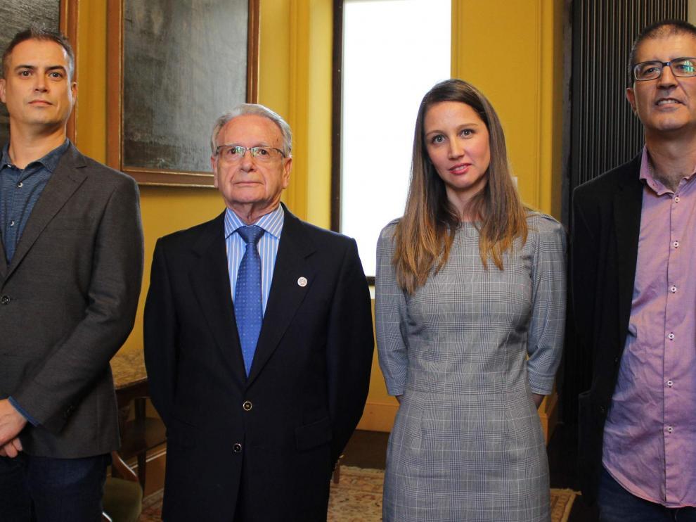 Camino Álvarez Fidalgo, Diego García Gonzalo y Ana Isabel Allueva Pinilla.