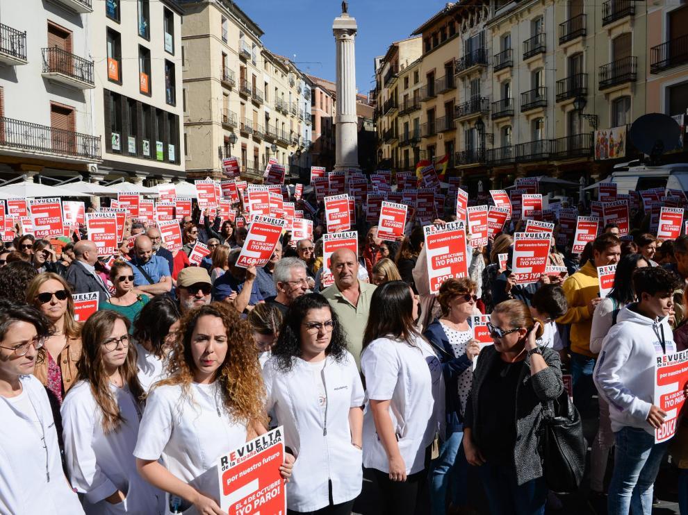 Paro de 5 minutos de la España Vaciada, la última convocatoria de Teruel Existe.