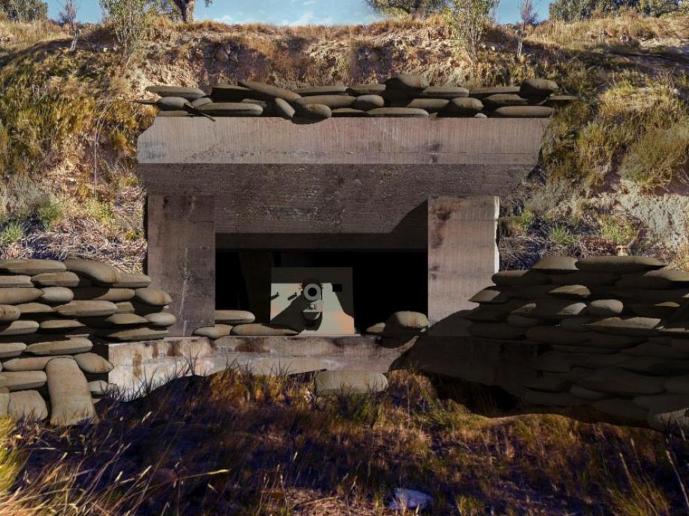 Paseo virtual en Fonz por el emplazamiento artillero de la Guerra Civil.