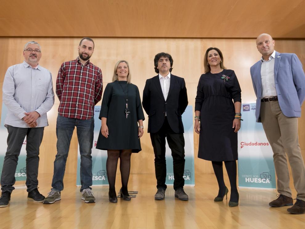 Salvador Ariste, Daniel Fernández, Begoña Nasarre, Mario Garcés, Lourden Guillés y Pablo Ciprés