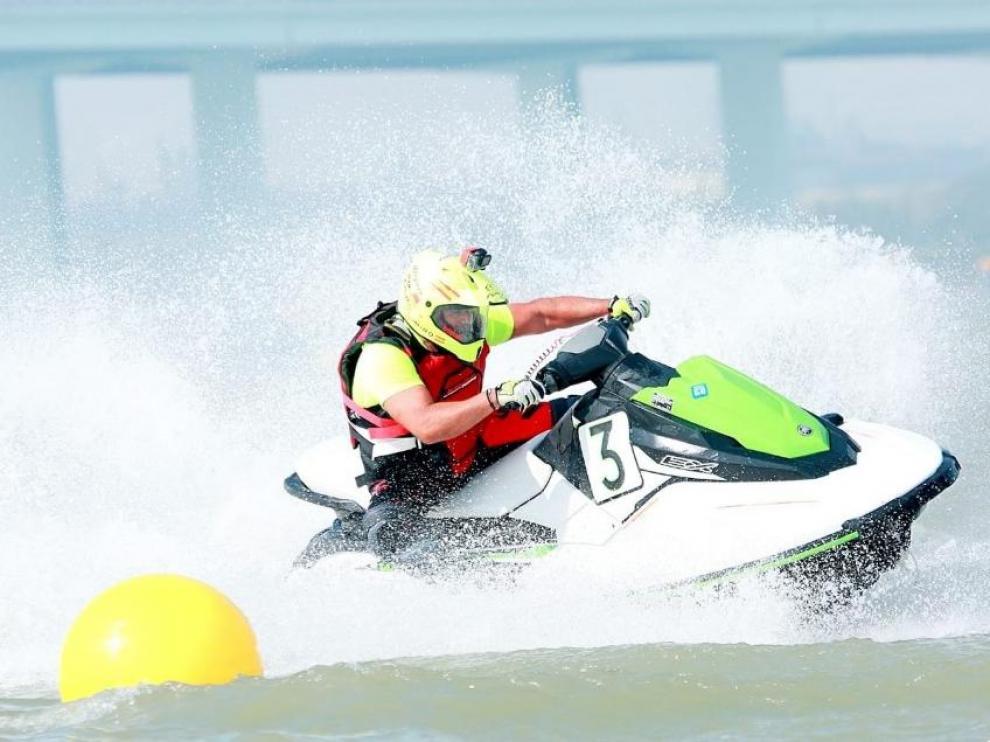 El piloto aragonés Juan Aloguín, en acción en el Gran Premio de Shaoxing