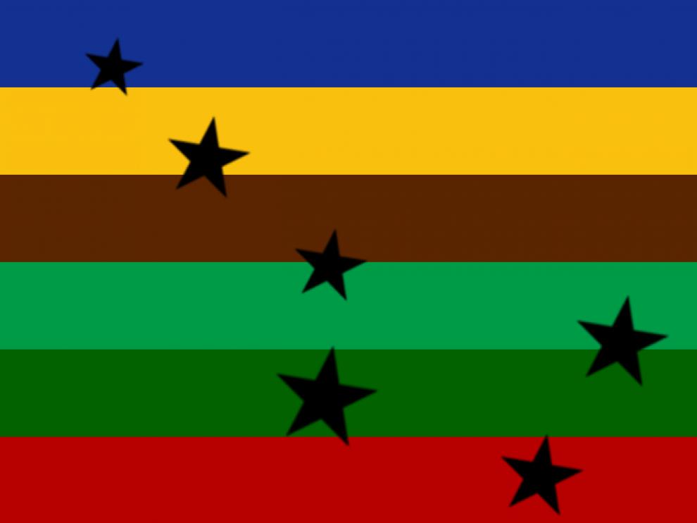 La plataforma ha creado una bandera en la que se exaltan los colores de la naturaleza.