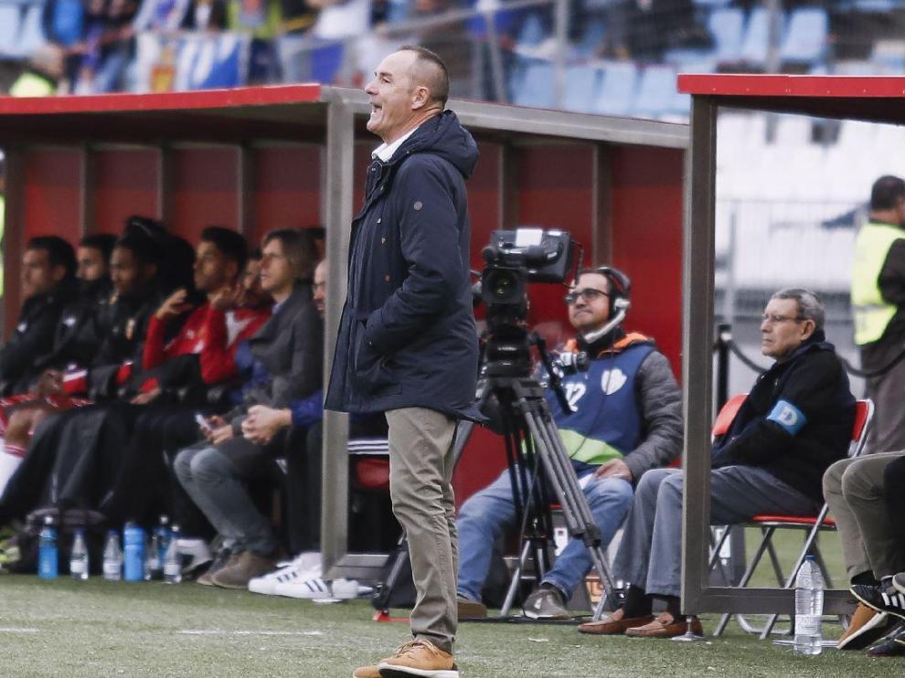 Víctor Fernández, este domingo en el estadio de los Juegos Mediterráneos de Almería.