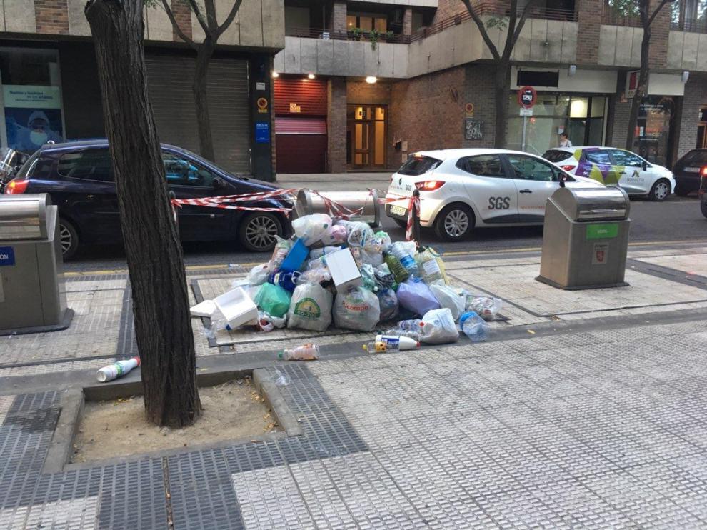 Basura en las calles de San José.
