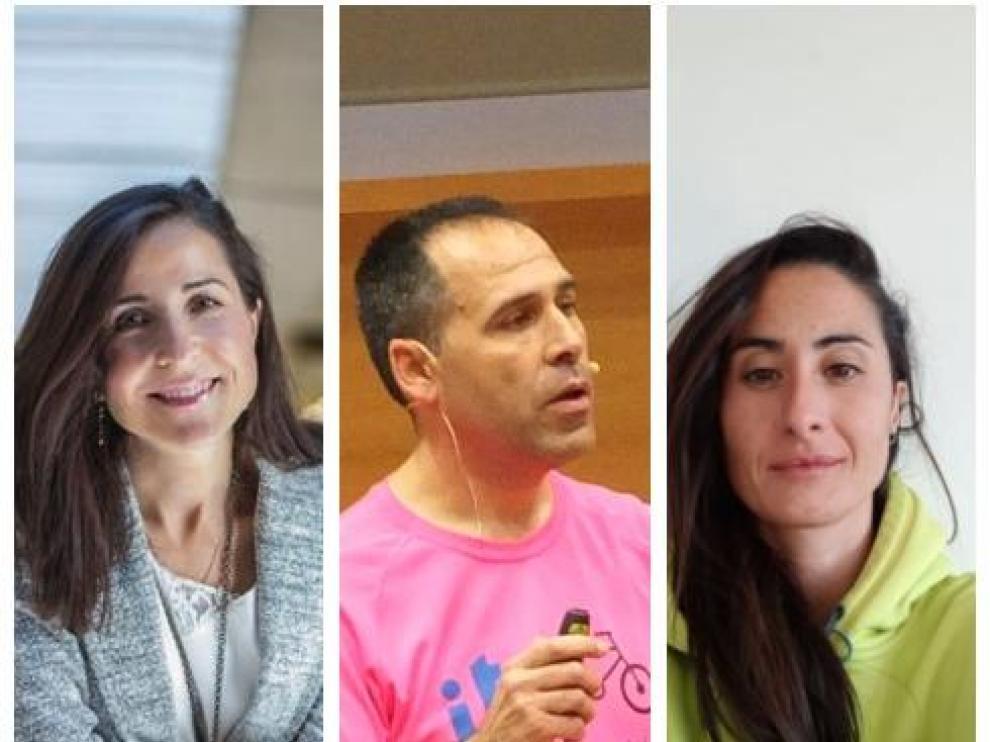 Alejandra Cortés, José Antonio Julián y Silvia Román, los tres docentes aragoneses nominados.