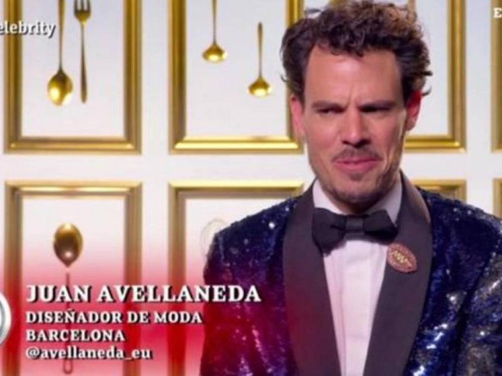 El concursante Juan Avellaneda de 'Masterchef' celebrity