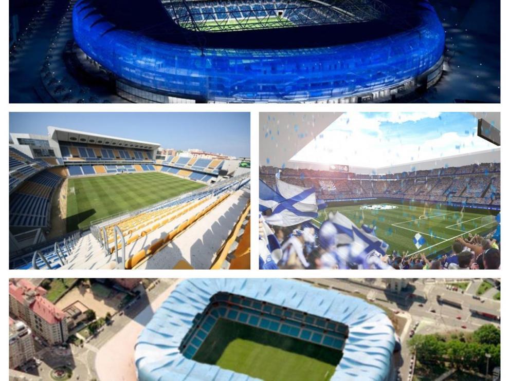 Anoeta, Carranza, Mendizorroza y Balaídos, cuatro ejemplos de renovaciones integrales en estadios municipales.