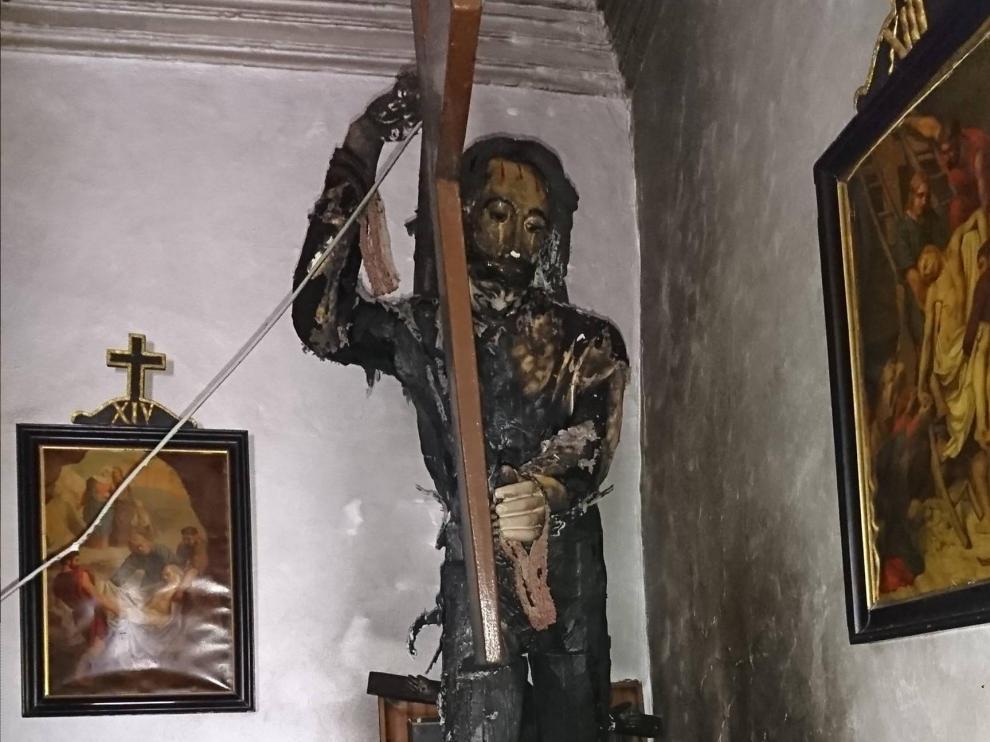 imagen del Nazareno de la ermita del Santo Sepulcro de Tauste