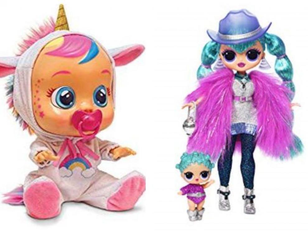 Un bebé llorón unicornio y una LOL Surprise, el furor de estas navidades.