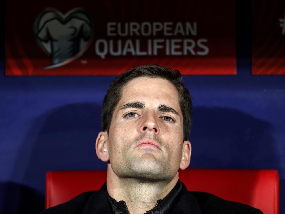 El seleccionador de España Robert Moreno