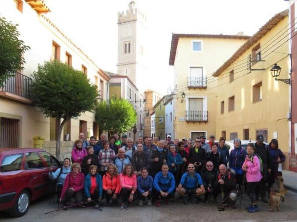 Una de las últimas marchas del año se celebró en Longares, en octubre.