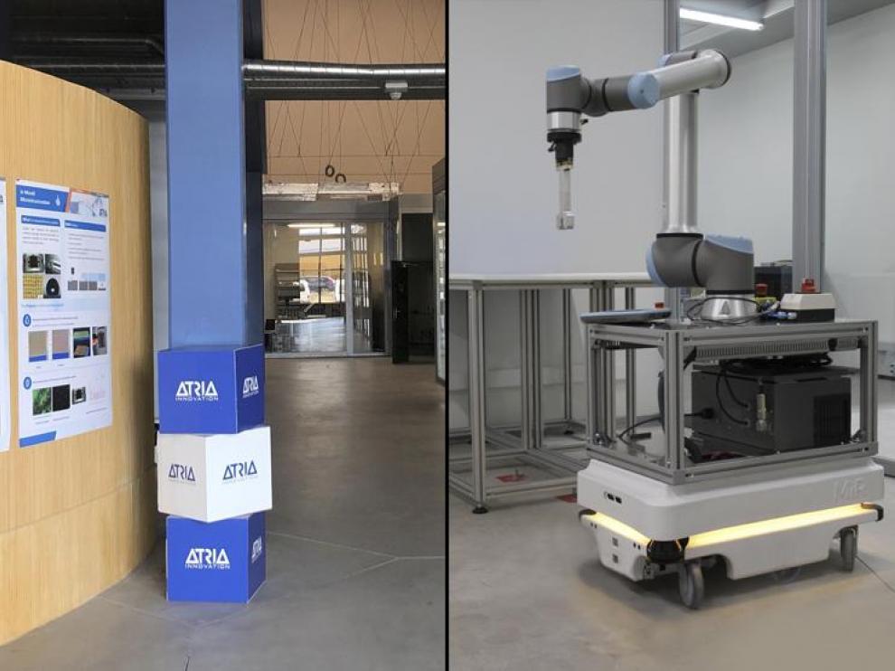 A la izquierda, las instalaciones de ATRIA Innovation. A la derecha, uno de sus proyectos más avanzados.