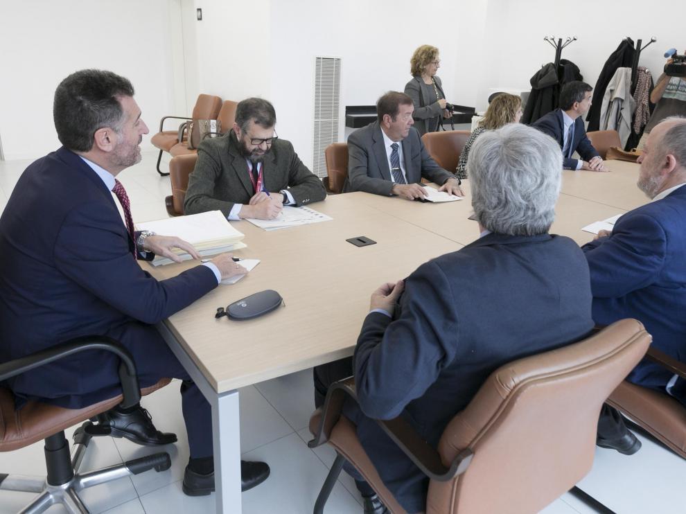 Palacio de Justicia.Visita del presidente del TSJA / 22-11-2019 / Foto Rafael Gobantes [[[FOTOGRAFOS]]]