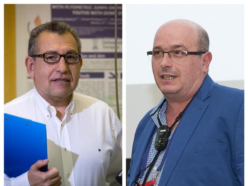 Los científicos de la Universidad de Zaragoza Luis Alberto Moreno Aznar y Yamir Moreno Vega.