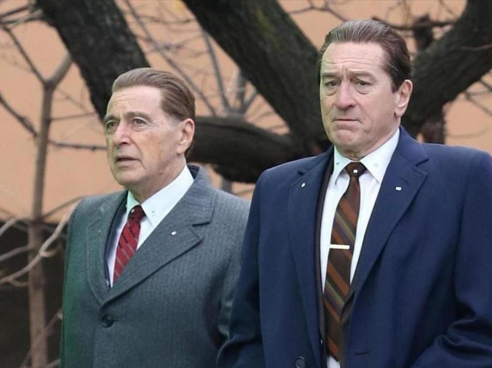 Los veteranos Al Pacino y Robert De Niro, dos reclamos para el gran público, protagonizan la cinta.