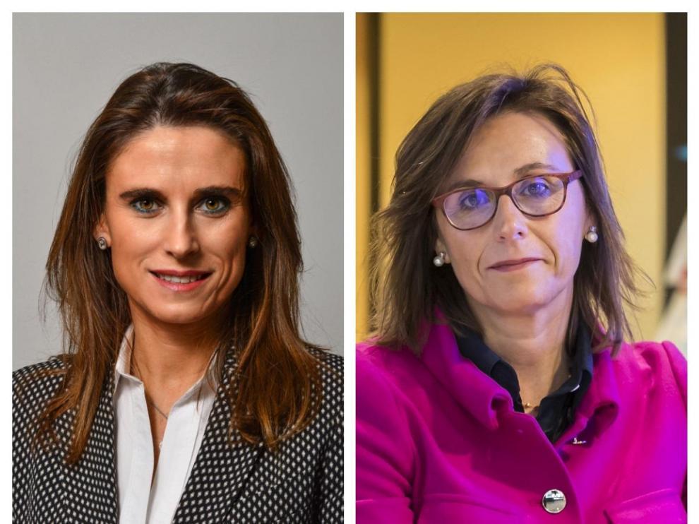 Isabel Moreno, nueva directora de la territorial Ebro, y Cristina González Viu, hasta ahora directora de la territorial de Aragón y La Rioja