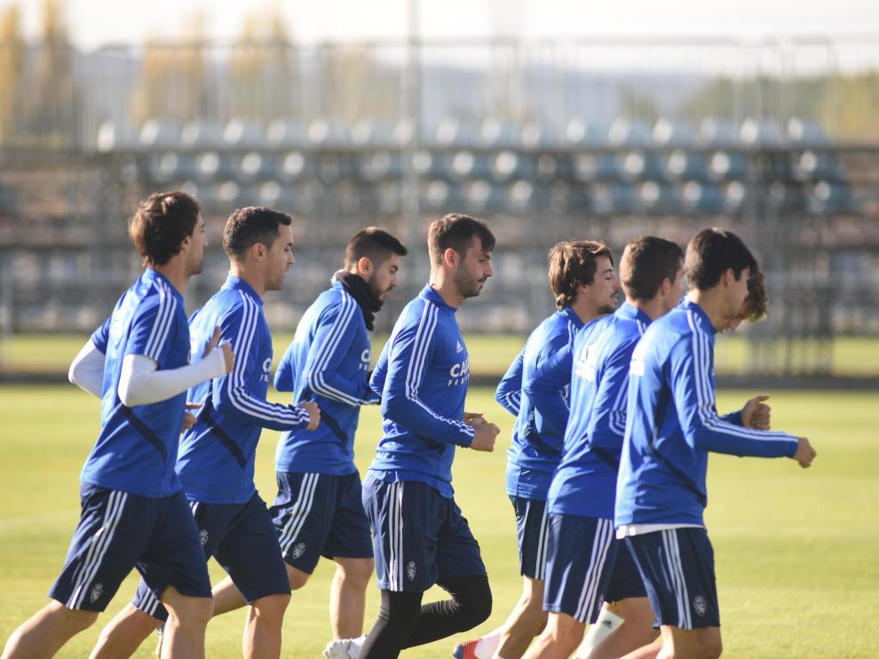 El Real Zaragoza ha comenzado a preparar el partido de la próxima jornada de Liga que le enfrentará el sábado 30 al Girona en el estadio de La Romareda