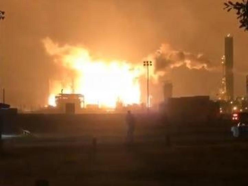 Explosión en una planta química en Texas (Estados Unidos).