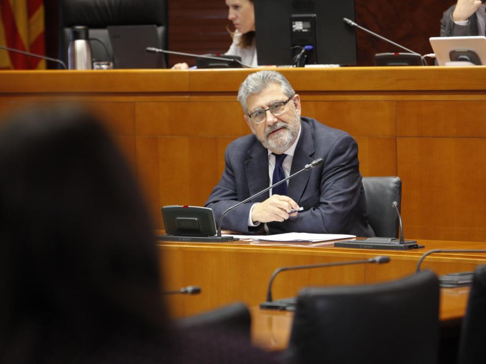 José Antonio Mayoral, este jueves en las Cortes de Aragón.