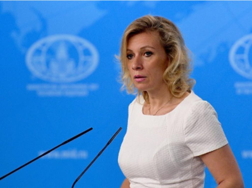 María Zajárova, portavoz del Ministerio de Asuntos Exteriores ruso.